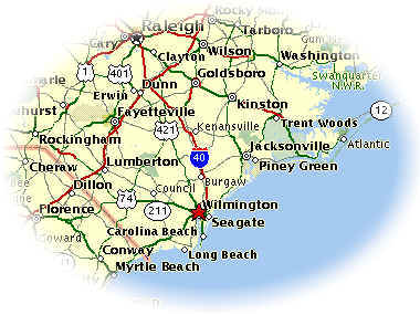 Thomas Janicki Education - Map of north carolina coast